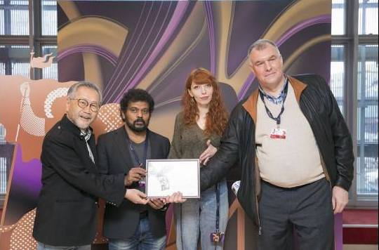 Netpac Jury awarding the best film at 40th Moscow International Film Festival 2018